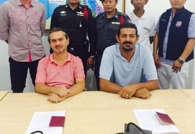 Deux hommes turcs arrêtés pour travailler illégalement au large de l'île de Phuket