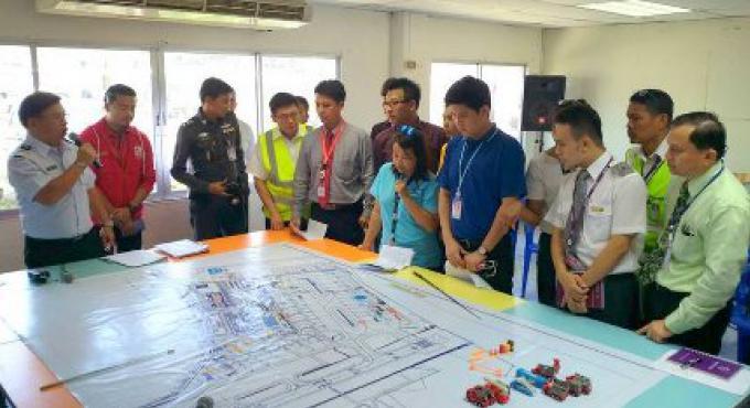 L'aéroport de Phuket mettra en scène une méga-simulation, exercice d'intervention d'urgence à mi