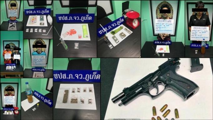 La lutte anti drogue arrête huit suspects