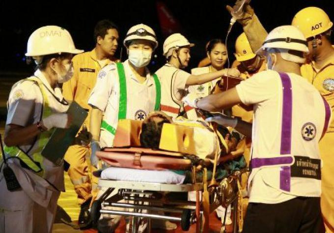 Simulation d'un crash à l'aéroport de Phuket