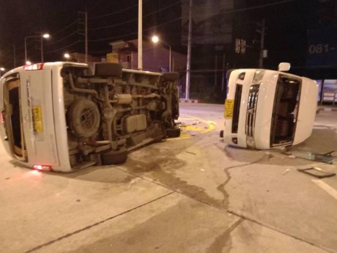 Des touristes blessés dans une collision entre deux vans