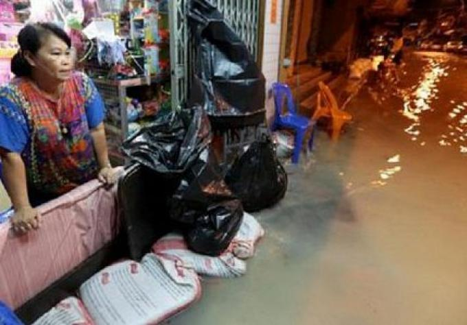 Chon Buri zone sinistrée après les inondations