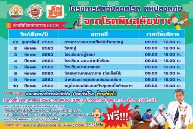 Une clinique mobile vaccine gratuitement chiens et chats de Kathu