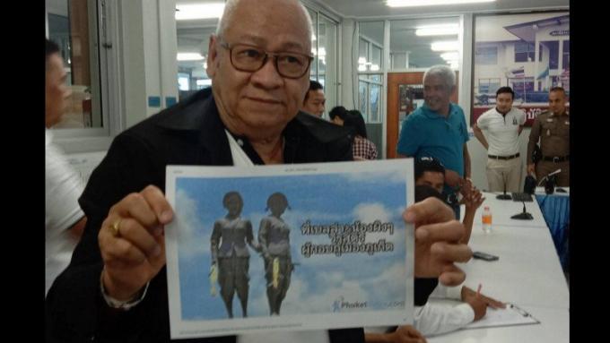 Le gouverneur demande un plainte contre le montage photo irrespectueux des héroïnes de Phuket