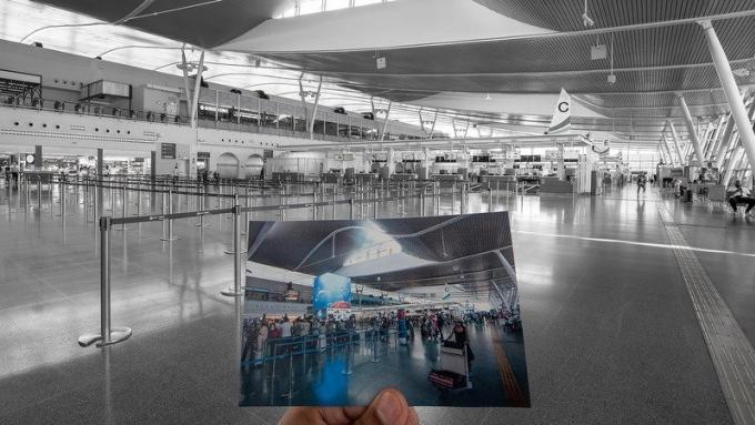 L'aéroport de Phuket désert
