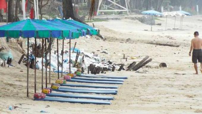 Les photos prises des transats de plage, des parasols à Surin pourraient être légales