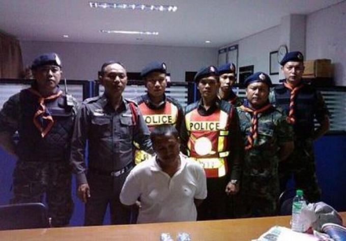 Un homme arrêté pour drogue à un checkpoint sur à Phuket