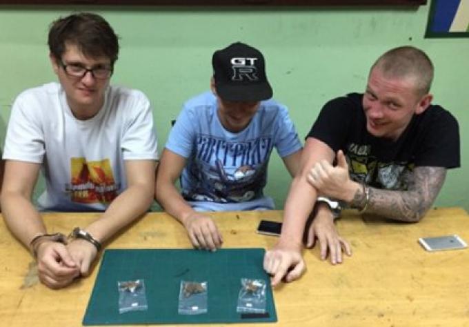 Thais et Russes attrapés dans la campagne anti-drogue de Phuket